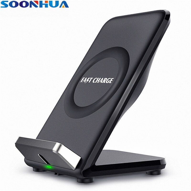SOONHUA QI Fast Wireless Charger For Samsung Galaxy S8 S7 S6 Edge All Qi-Enabled Devices Smart Charger For iPhone X 8 8 Plus