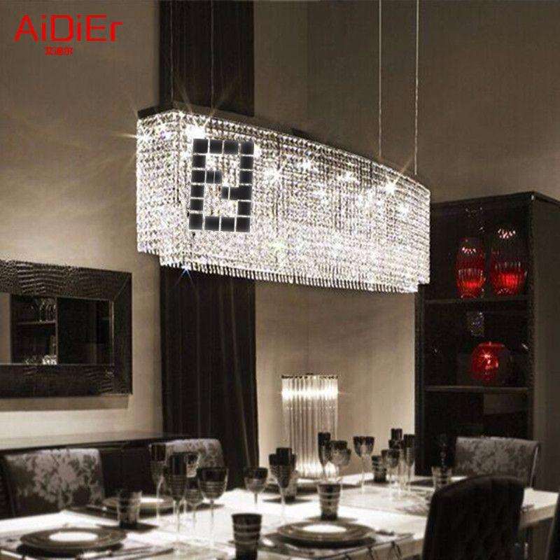 Restaurants led Bedroom lamp Hall chandelier simple rectangular bar dining room lighting creative meals lamps