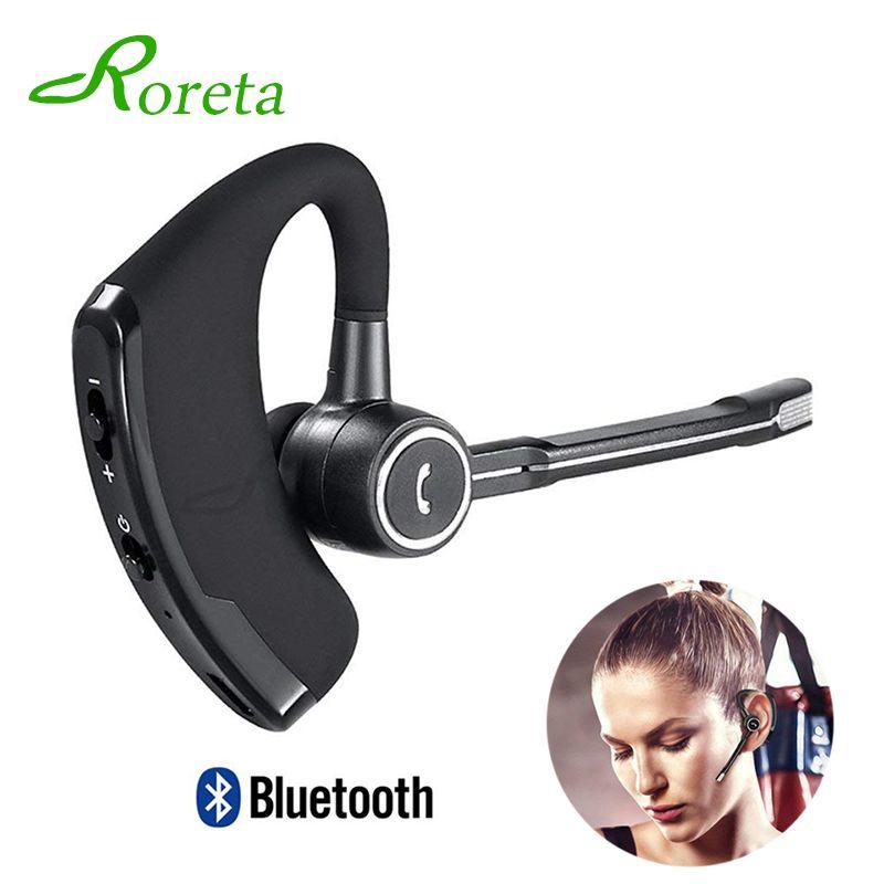 Écouteurs bluetooth de voiture mains libres avec micro casque antibruit sans fil Bluetooth affaires stéréo écouteurs pour iPhone Xiaomi