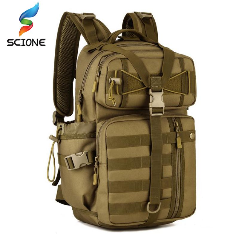 Men Outdoor 3P Tactical Backpack 900D Waterproof Army Shoulder Military hunting camping Women Multi-functional Molle Sports Bag
