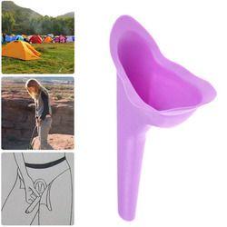 Nuevo diseño mujeres urinario viaje camping al aire libre suave silicona urination dispositivo Stand Up & Pee mujer urinario WC
