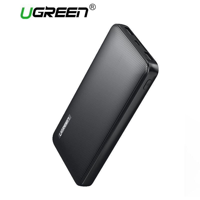 Ugreen 10000 mAh Energienbank Dual USB Power Portable Handy-ladegeräte für iPhone X SamsungS8 Externe Batterie Usb-ladegerät