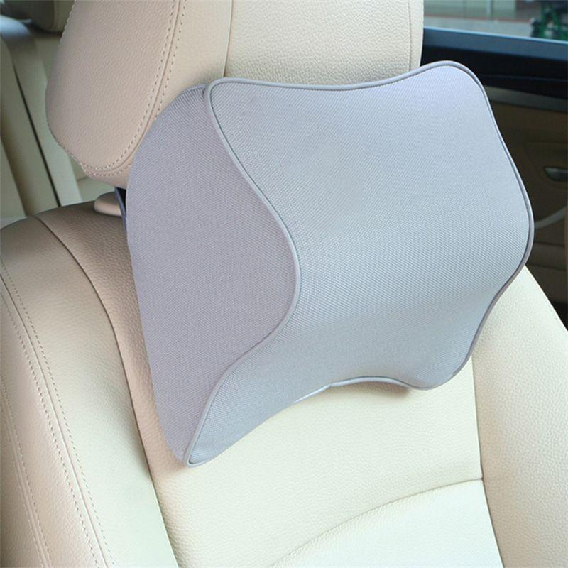 HLEST Car Pillow Space Memory Foam Fabric Neck Headrest Car Seat Vehicular Pillow