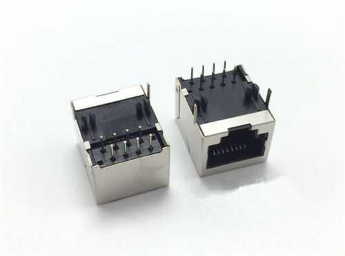 50 pcs RJ45 8P8C 18*13mm Modular Network PCB Jack 8P LAN Adapter Connector
