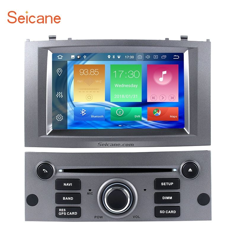 Seicane 8-core Android 8.0 4 gb RAM 32 gb ROM Auto Stereo CD DVD Player für 2004-2010 peugeot 407 GPS Navigation system