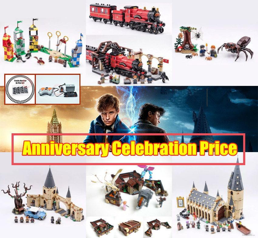 New Hogwarts harry potter fit legoings fantastic beasts technic power function figures Building Block brick Toy 75952 75954 gift