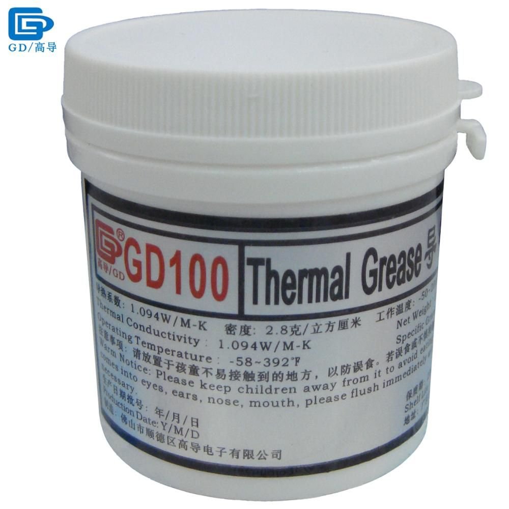 GD marque dissipateur de chaleur plâtre composé GD100 pâte de graisse conductrice thermique Silicone poids Net 150 grammes blanc pour CPU LED CN150
