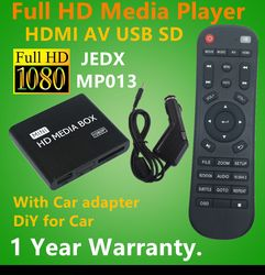 Full HD 1080P Car Media Player HDMI,AV output,SD/MMC Card reader/USB Host,Free Car adapter Gift&Free shipping!