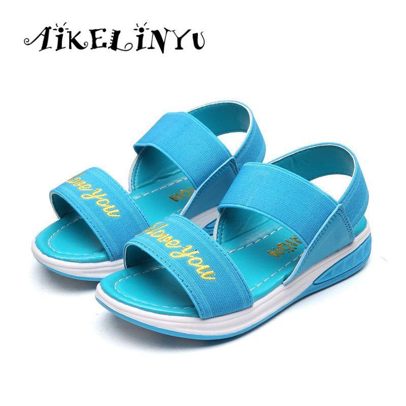 Enfants sandales Fille chaussures d'été enfants sandales Occasionnels Confortable et lumière sport sandales enfants Plage chaussures Élastique sandales