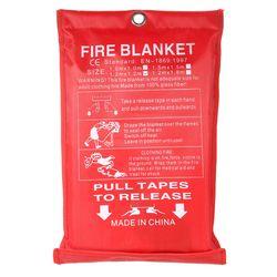 1M x 1M Fire Blanket Fiberglass Fire Flame Retardant Emergency Survival Fire Shelter Safety Cover Fire Emergency Blanket