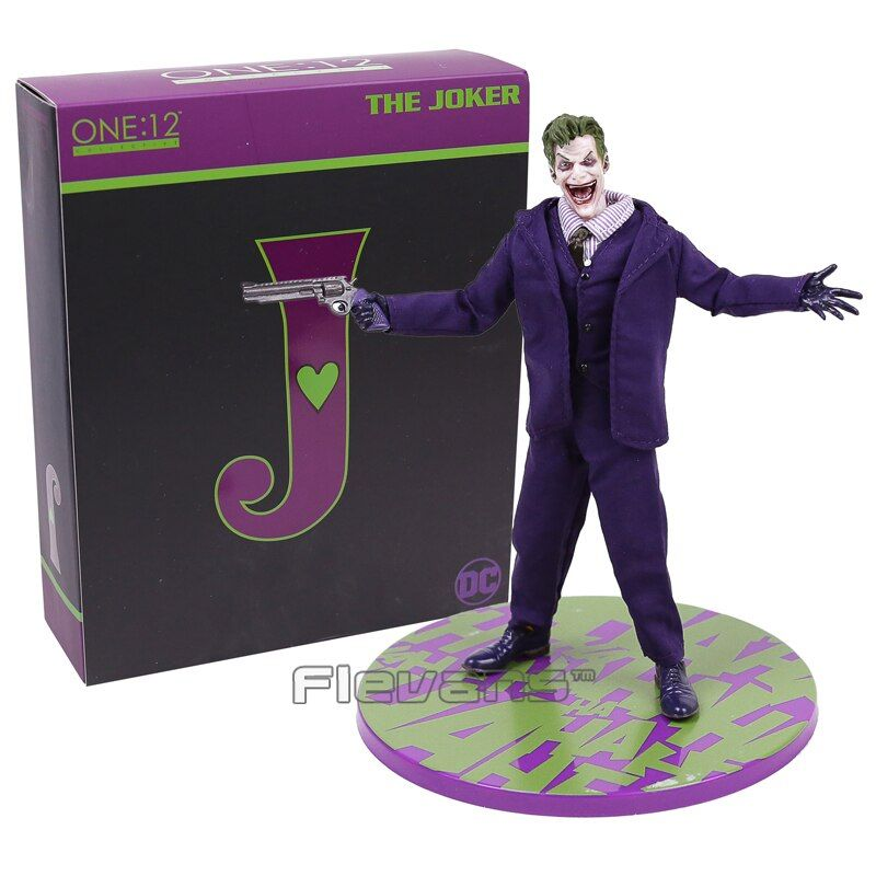 Batman The Joker Action Figures 1:12 With Real Clothing MEZCO Movable Model Toy
