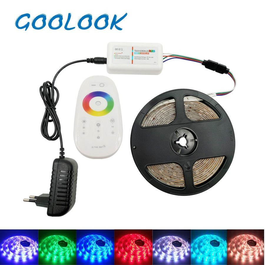 LED Strip Light RGB 5050 SMD Waterproof RGB LED Light Tape emitting diode Tape LED Lamp Ribbon RGB Strip RF Controller Full Set