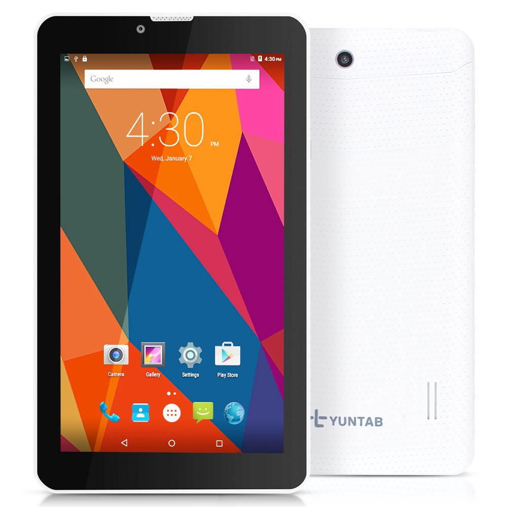 Hot 3G Phablet Yuntab 7inch E706 Tablet PC 1GB 8GB Android5.1 Quad Core IPS Unlocked cellphone GPS Bluetooth 7 8 10 10.1