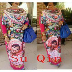 Nueva moda elástico para las mujeres/señora, elegante elástico vestido africano tradicional imprimir vestidos para ladys cloting
