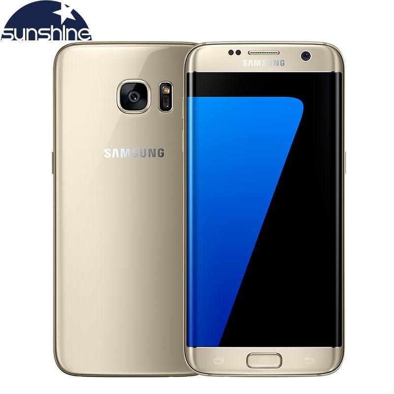 Оригинальный Samsung Galaxy S7 Edge 4 г LTE мобильный телефон Octa Core 5.5 дюймов 12.0 МП 4 ГБ Оперативная память 32 ГБ Встроенная память смартфон NFC