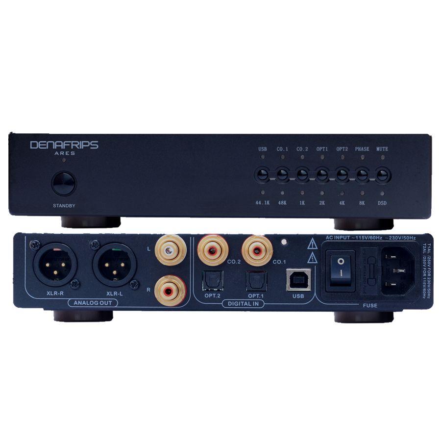 R-013 ARES 24Bit/384 karat DSD R2R Ausgewogene Widerstand DAC Decoder Unterstützung DSD256 Sound Code Verwenden Low-jitter digital Voice Chip