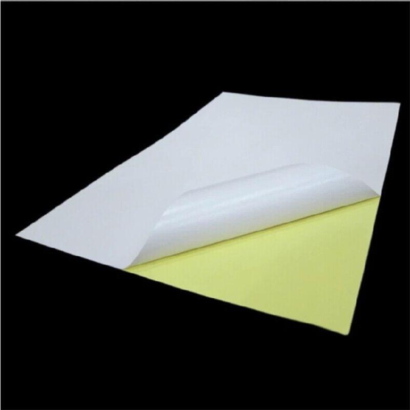 80 feuilles A4 Brillant Blanc Autocollant Étiquette En Papier Papier D'impression Brillant A4 Autocollant Adhésif Résistance Impression Papier OP004