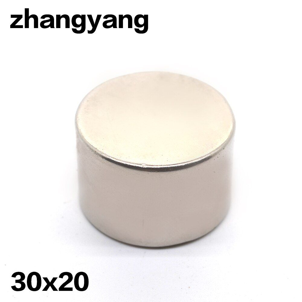 1 pc 30x20mm N35 rond artisanat néodyme aimants Super fort 30mm * 20mm puissant aimant de terres rares