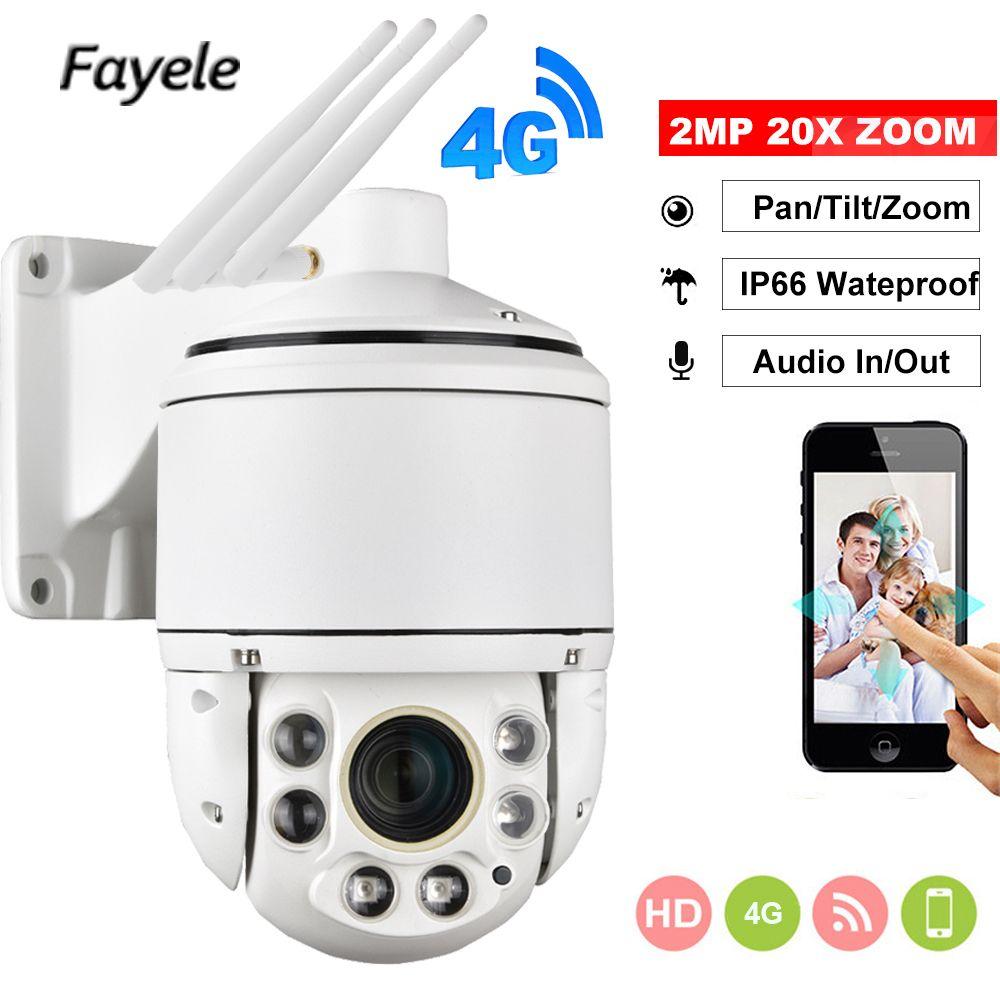 1080 P 3G 4G Kamera SIM Karte Wifi Outdoor PTZ HD IP Kamera Wireless IR 100 M 20X zoom Autofokus CCTV LTE P2P Mobile Access Camhi