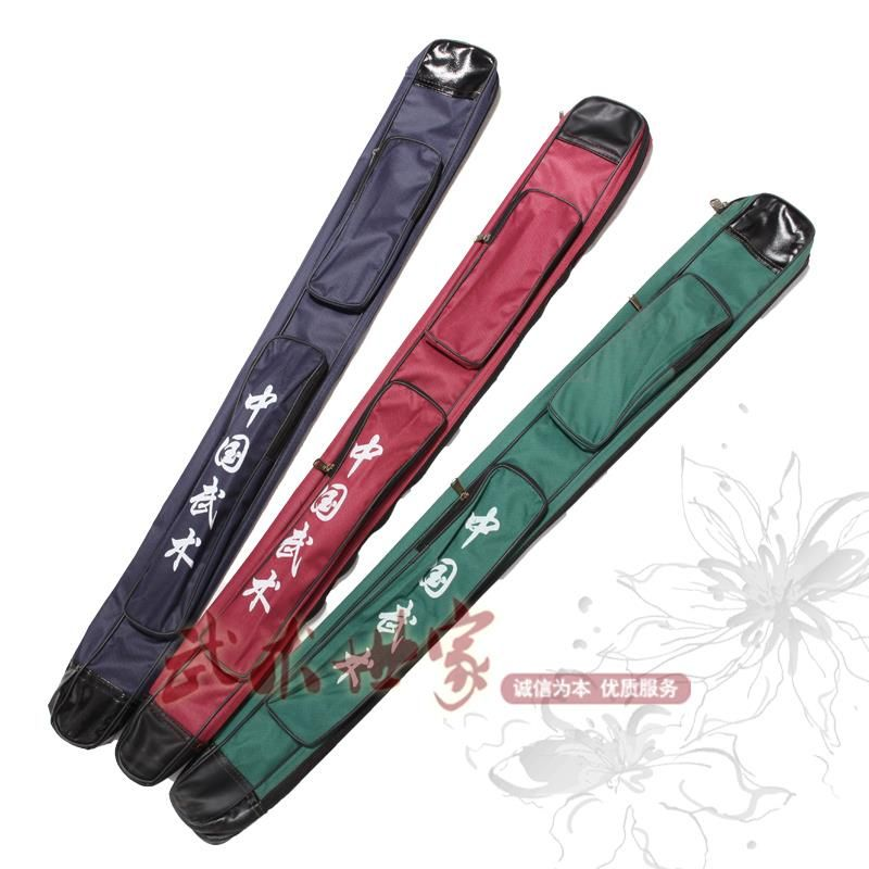Tai chi sword bag oxford fabric pocket sword bags single layer kung fu carry sword bags 105cm 2colors free shipping