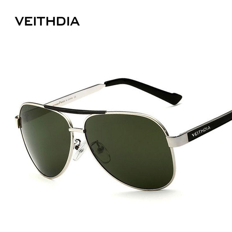 VEITHDIA avec étui d'origine lunettes de soleil polarisées hommes marque Designer lunettes de soleil UV 400 lentille gafas oculos de sol masculino 3152