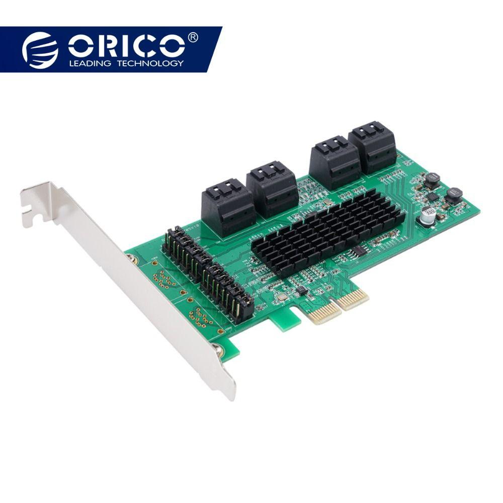 ORICO 8 Port SATA3.0 PCI-E Expansion Karte Adapter 6 Gbps High Speed Für Desktop-Computer Komponenten X1/X4/ x8/X16 PCI Express Karte