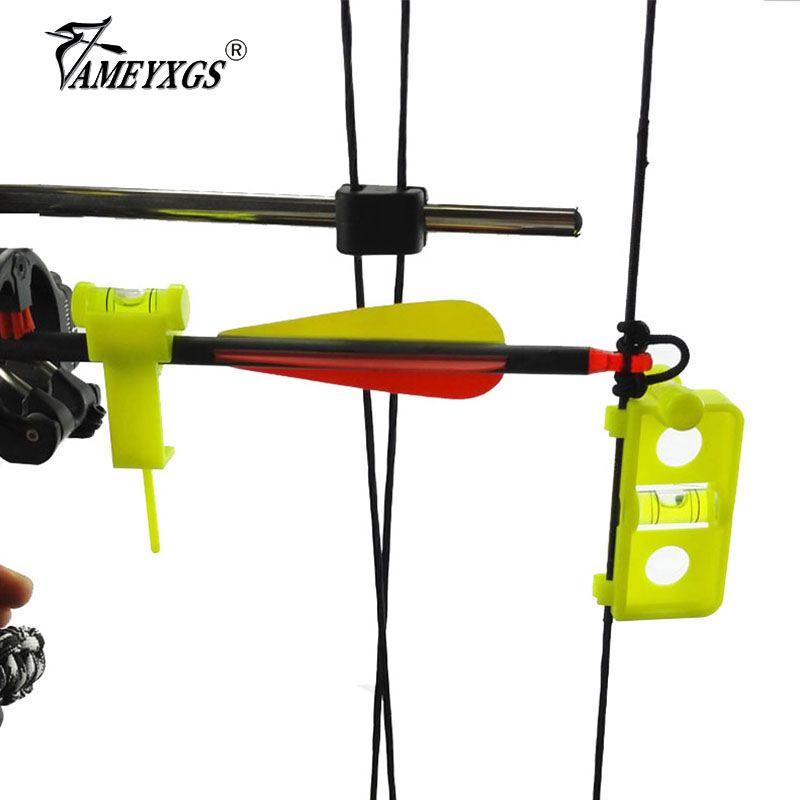 Tir à l'arc réglage de la chaîne de montage niveau Combo arc composé et flèche niveau Nock Snap sur la chaîne pour la chasse accessoires de tir
