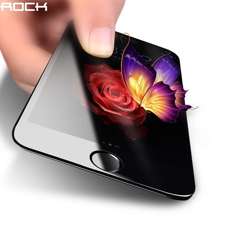 For iPhone 8 7 Tempered Glass, ROCK 2.5D 9H Full Screen Protector For iPhone 7 Plus 8Plus Matt Tempered Glass 0.26mm