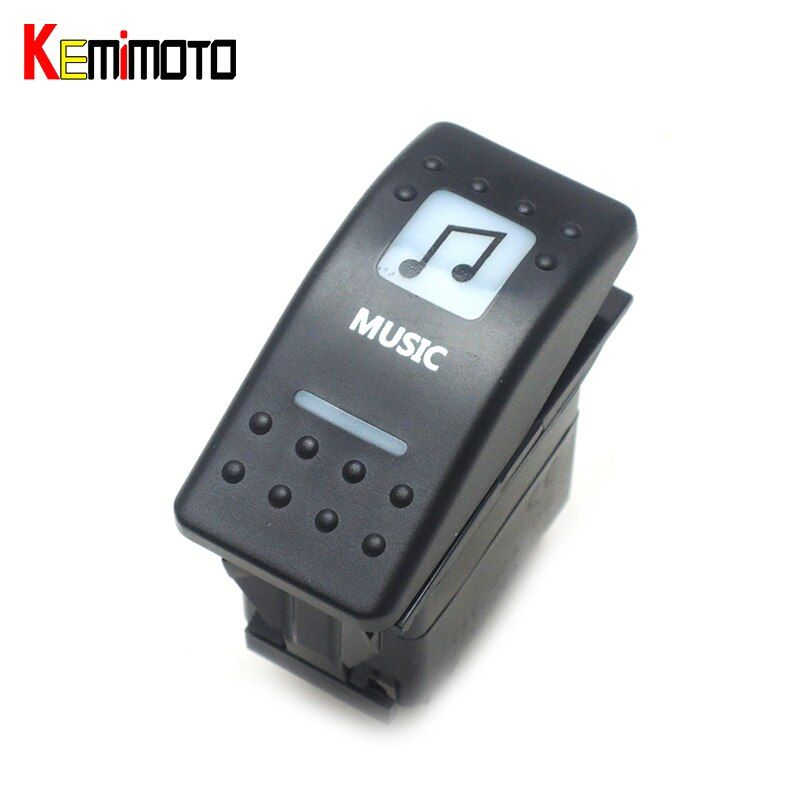 KEMiMOTO For Arctic Cat for Can Am Commander 15 16 for POLARIS XP White Led Music Switch for Yamaha for Wildcat