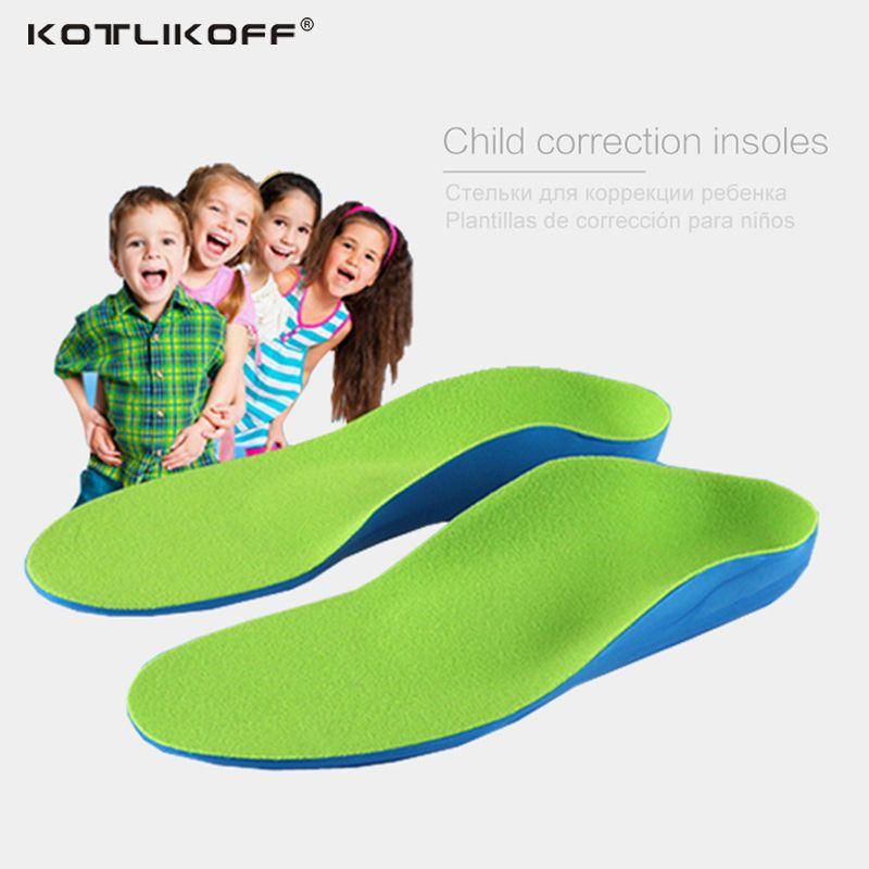 Niños Niños Zapatos Flat Foot Arch Support Ortesis Plantillas Ortopédicas para Niños Almohadillas de Corrección de La Salud Cuidado de Los Pies Plantilla