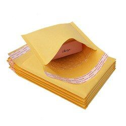 5 PCS/lot Papier Kraft Enveloppes À Bulles Sacs Expéditeurs Rembourré Enveloppe D'expédition Avec Bubble Postale Sac D'affaires Fournitures