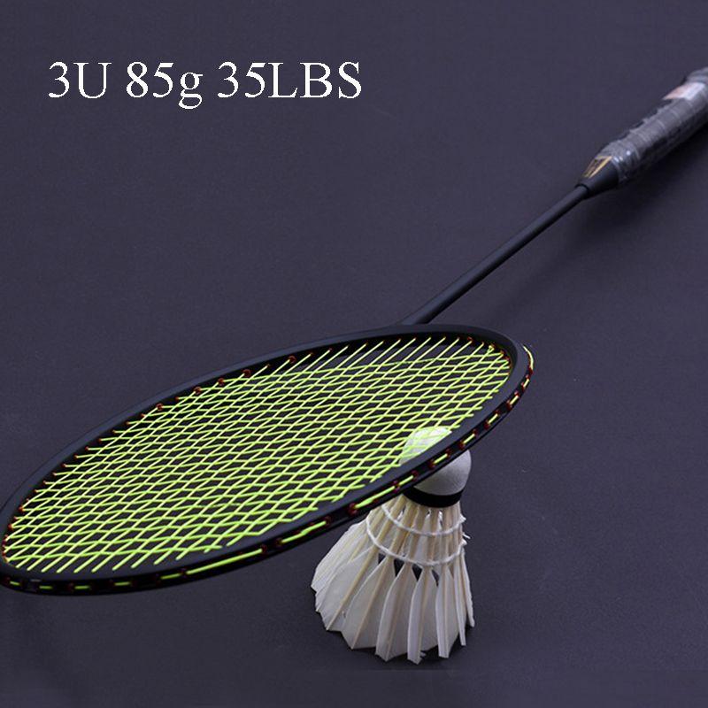 LOKI TI900 Hohe Spannung Carbon Badminton Schläger Heftigen Zerschlagen Offensive Badminton Schläger 3U 85g £