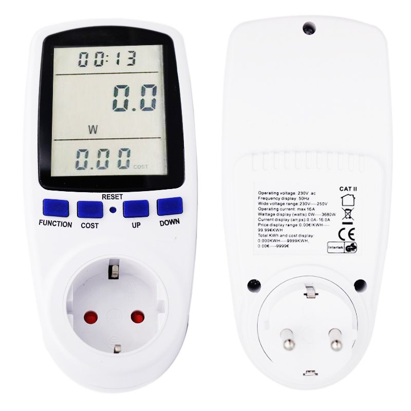 EU Plug Electricity Power Energy Watt Voltage Amps Current Meter <font><b>Analyzer</b></font> with Usage Monitor 40% off