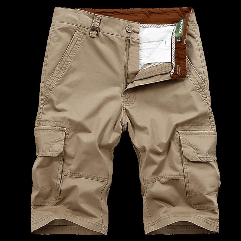 Grande Taille 30-44 Marque Shorts Cargo Hommes Marque Vêtements Droite Lâche Multi Poches Militaire Mens Shorts De Mode Armée travail Shorts