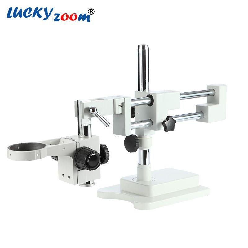 Luckyzoom Universal Doppel Boom Trinocular Stereo Zoom Mikroskop Stehen STL2 Focuse Arm A1 Halter Microscopio Zubehör