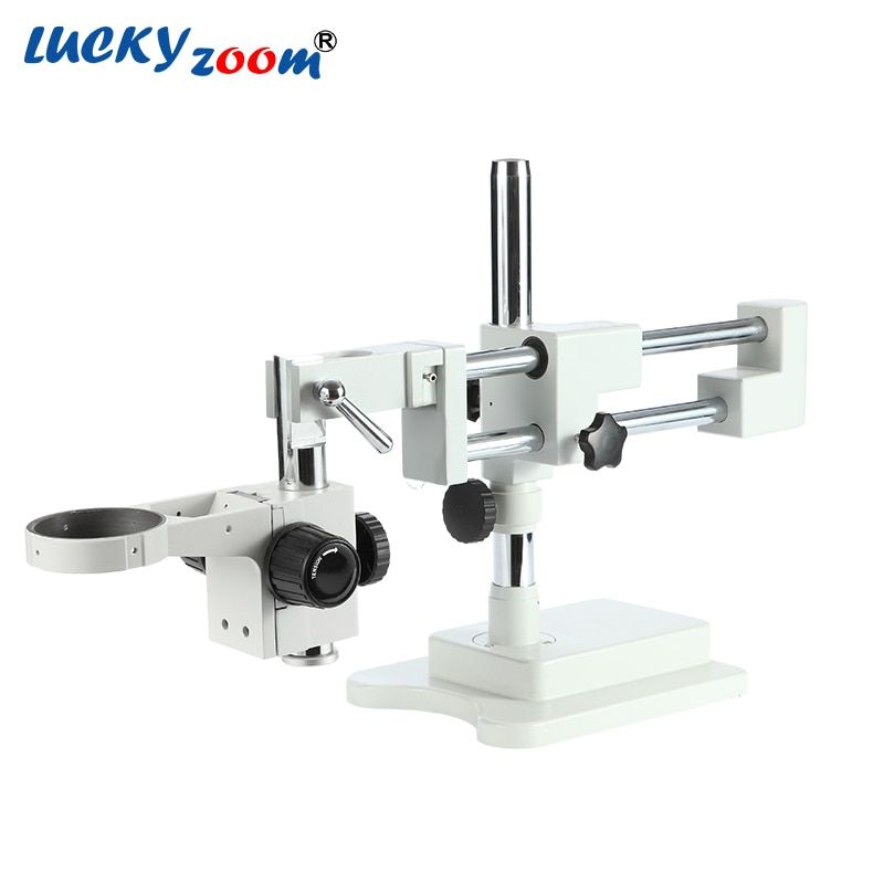 Luckyzoom Universal Double Boom Trinocular Stereo Zoom Microscope Stand STL2 Focuse Arm A1 Holder Microscopio Accessories