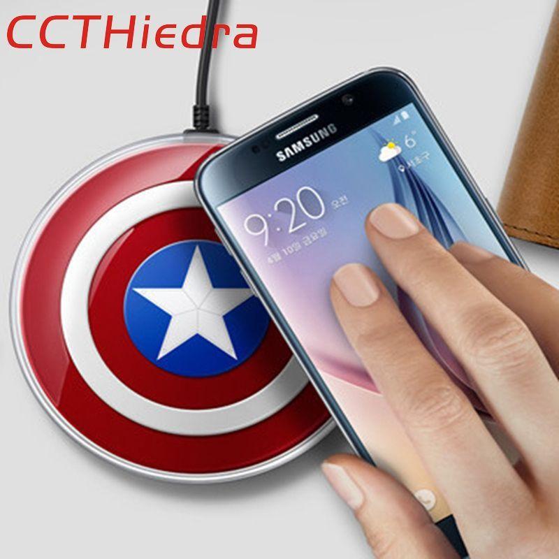 Ccthiedra QI Беспроводной Зарядное устройство зарядного устройства первоначально для Samsung S8 G9200 S6Edge плюс S7 S7Edge Note5 iPhone X iphone 8 плюс