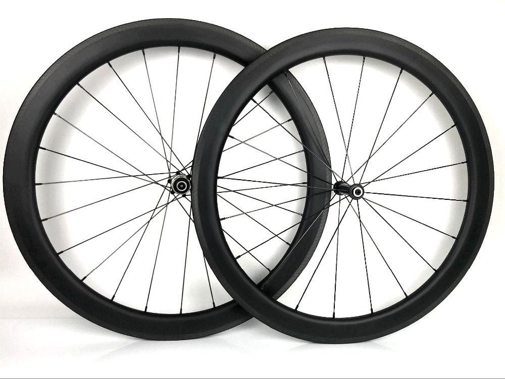 700C 50mm tiefe 25mm breite Rennrad carbon räder klammer/rohr carbon laufradsatz mit Novatec AS61CB/FS62CB, UD matte finish