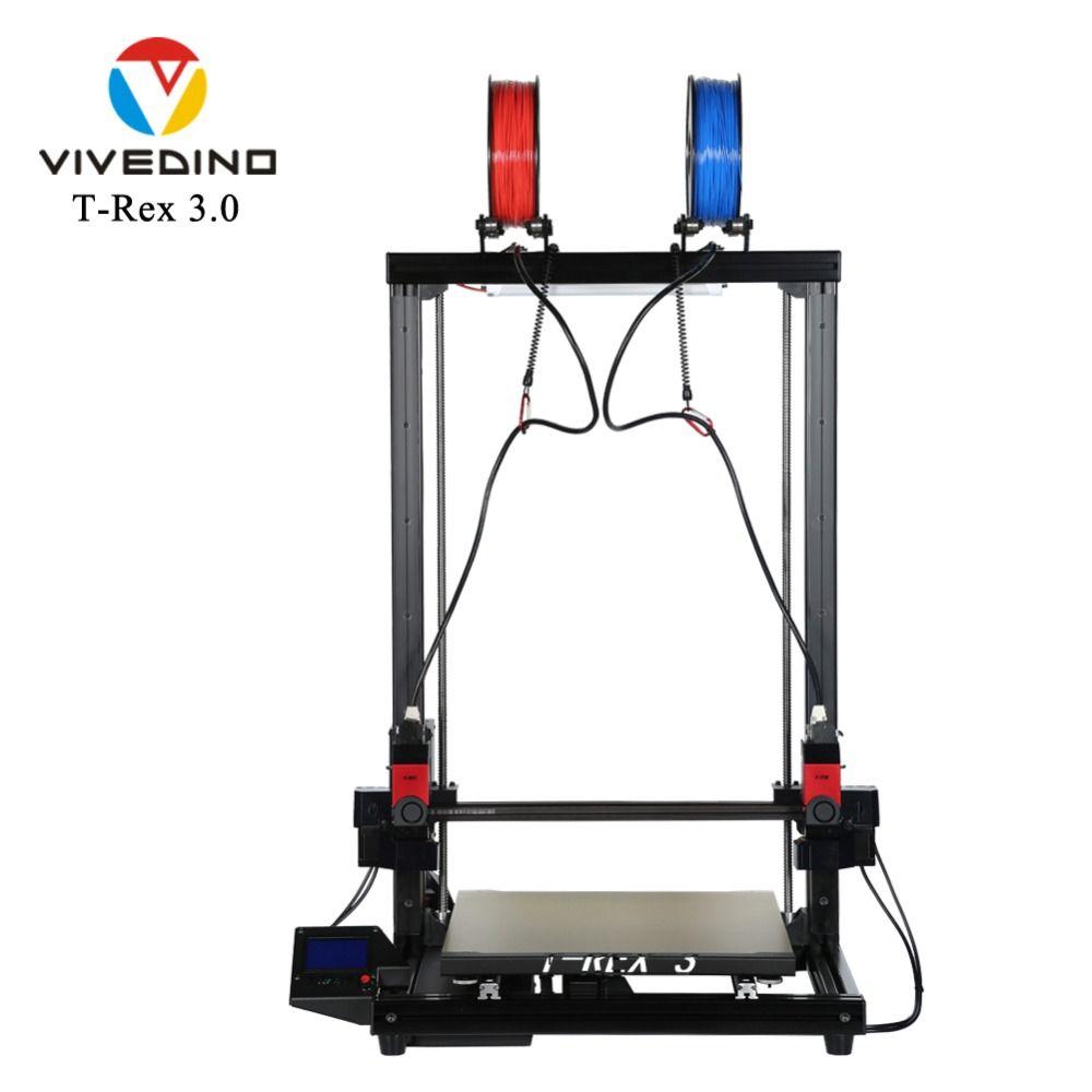 VIVEDINO T-Rex 3.0 IDEX 3D Printer with Extended Z Axis 400x400x700mm