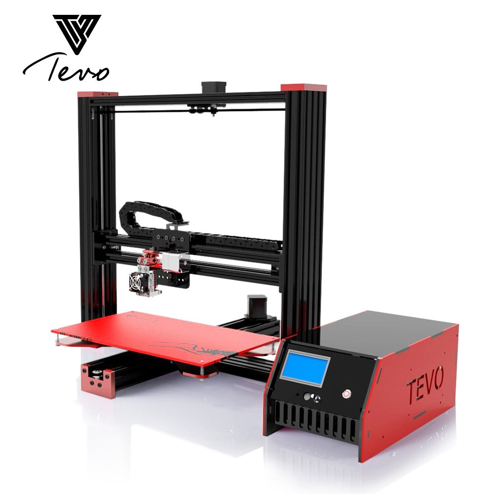 2017 New TEVO Black Widow Large Printing Area 370*250*300mm OpenBuild <font><b>Aluminium</b></font> Extrusion 3D Printer kit with MKS Mosfet
