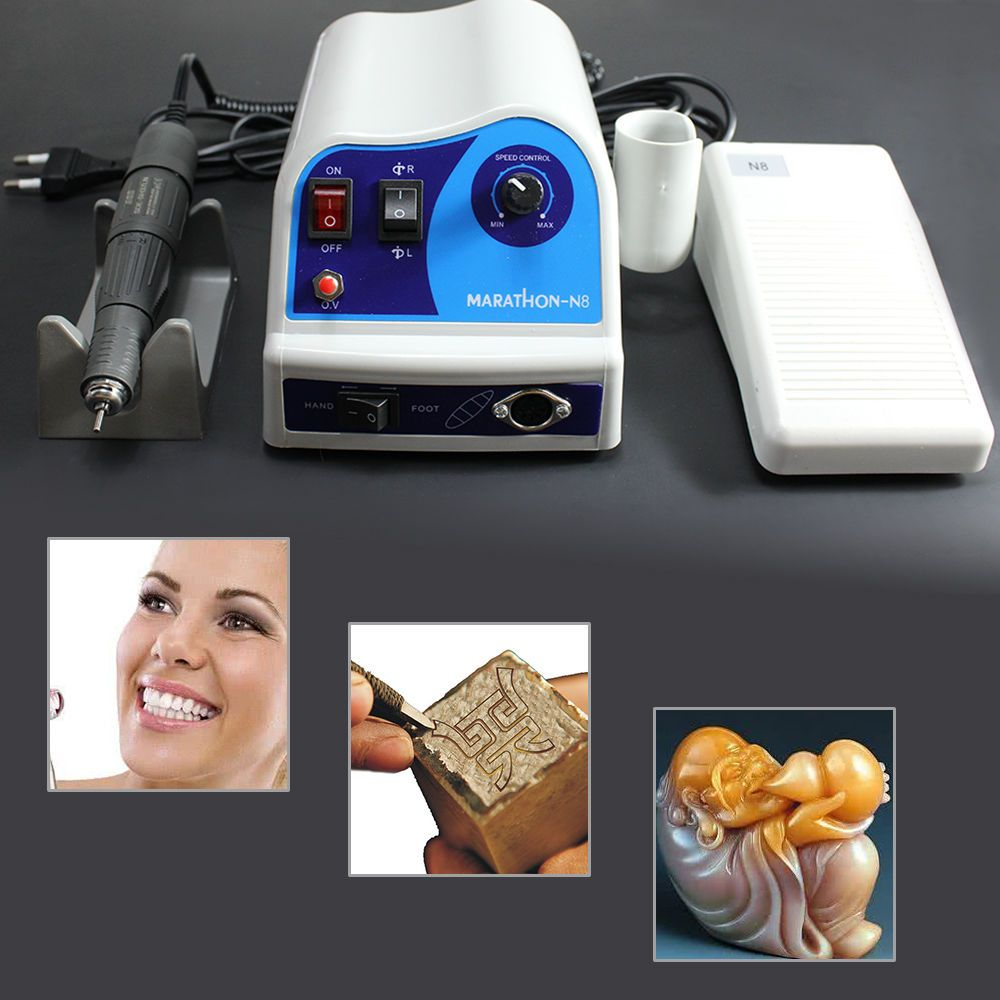 Dental Lab Polishing Marathon Micro Motor N9 + 45K RPM Handpiece For Dentist UPS