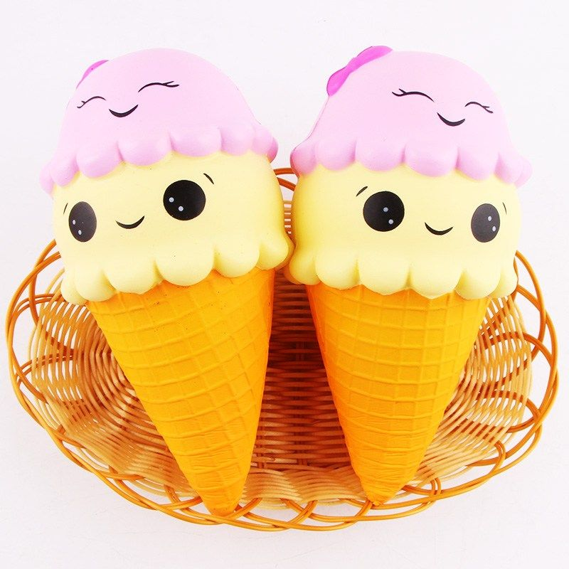 New Arrival SanQi Elan  Ice Cream Cone 22cm Slow Rising With Packaging Collection Gift Decor Soft Toy Phone Straps