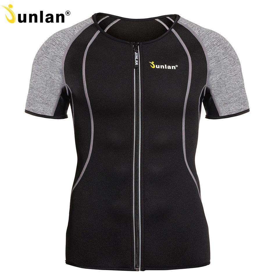 Junlan Body Shaper for Men Neoprene Slimming Shapewear Elastic Sauna Suit Male Waist Trainer Vest for Weight Loss Control Corset