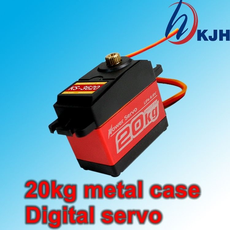 Metal shell gear full waterproof digital servo. Large torque 20kg. Robot Servo. arm Servo. Climbing car servo. Free Shipping