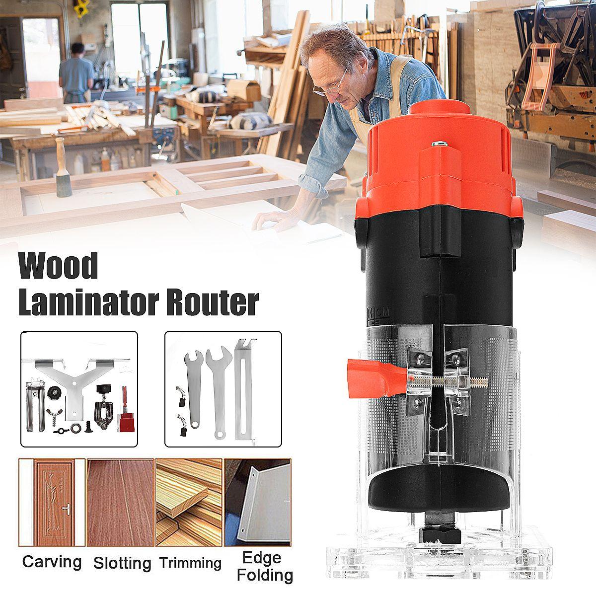 30000 rpm Elektrische Hand Trimmer 800 watt Holz Router Laminat 6,35mm Kleine Kupfer Motor Carving Maschine Holzbearbeitung DIY Power werkzeuge
