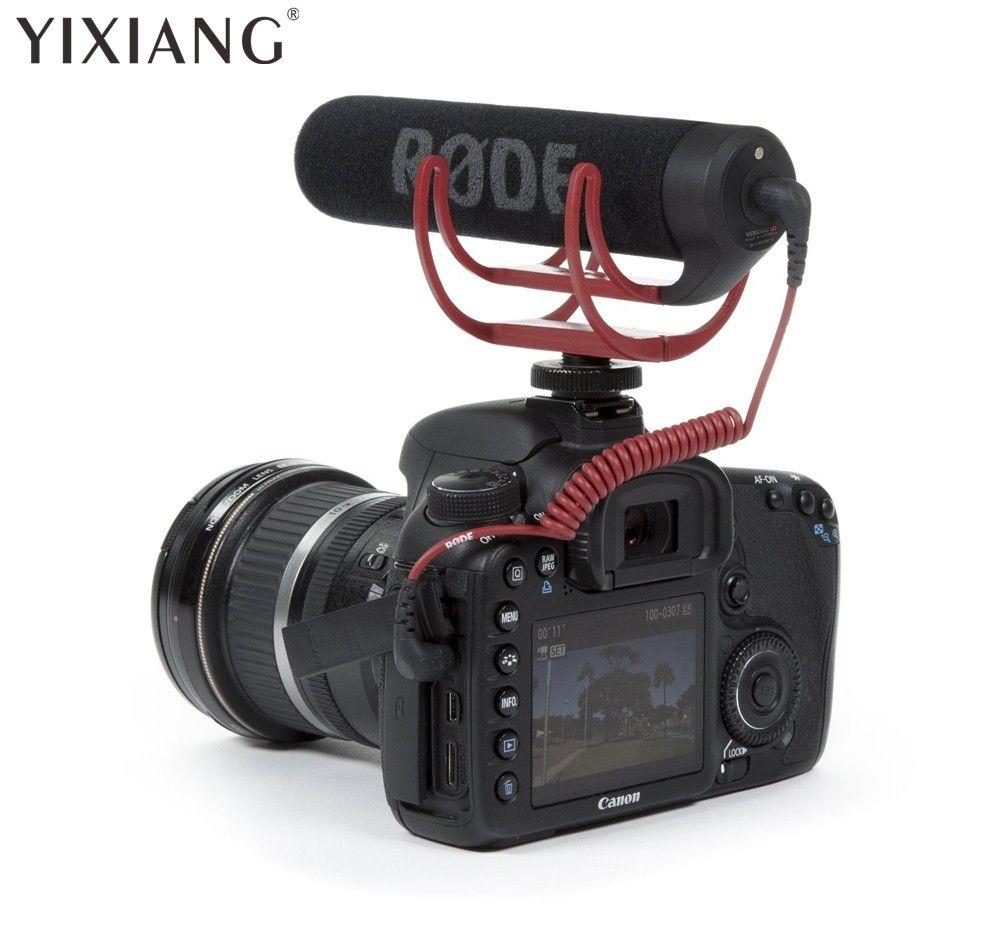YIXIANG Rode VideoMic ALLER Sur-Caméra Shotgun Microphone pour Canon Nikon Sony DSLR DV Caméscope pour Appareil Photo Numérique