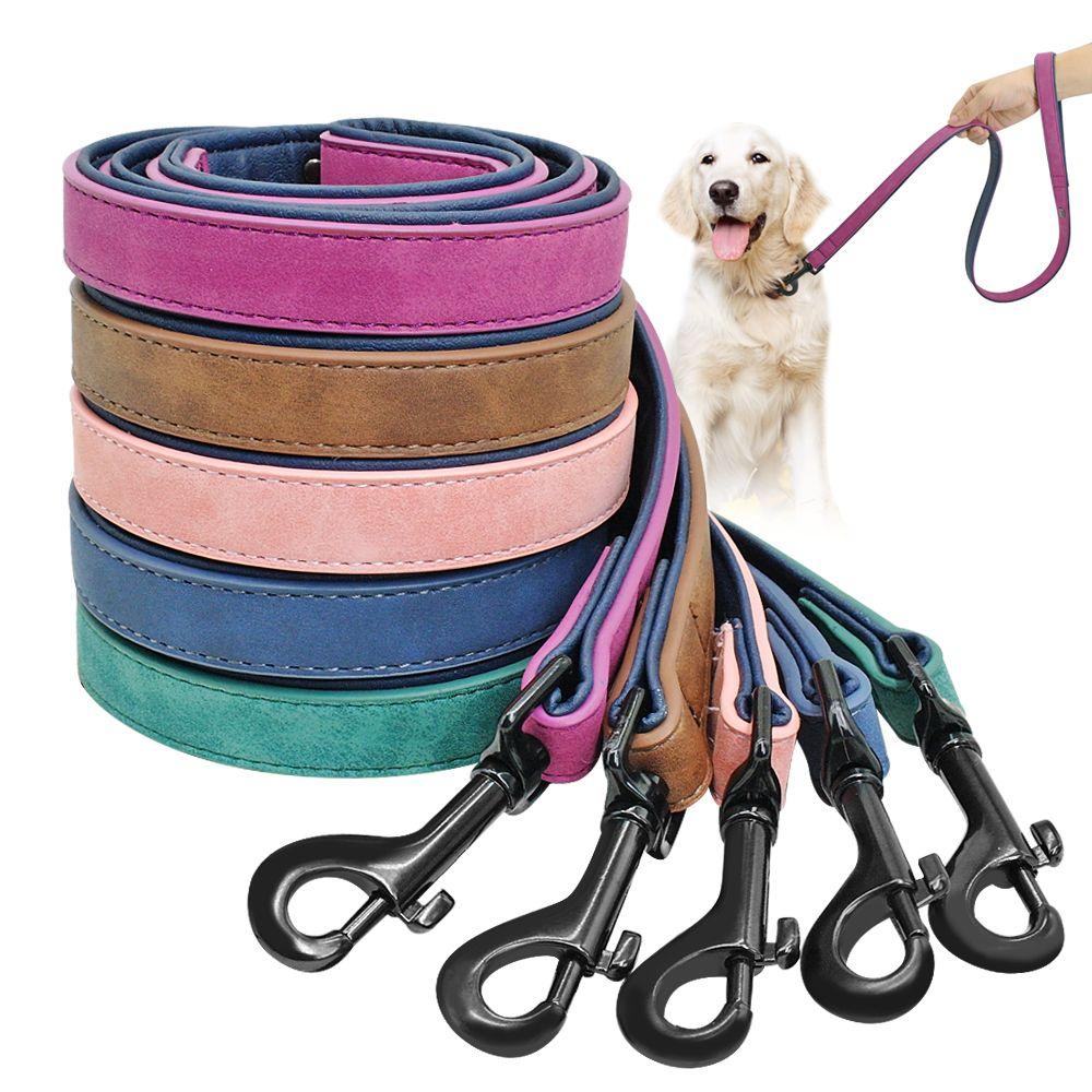 Chien Laisse Harnais En Cuir Plomb Pet Puppy Dog Walking Laisses Formation de Course Corde Ceinture Pour Petit Moyen Gros Chiens Pet fournitures