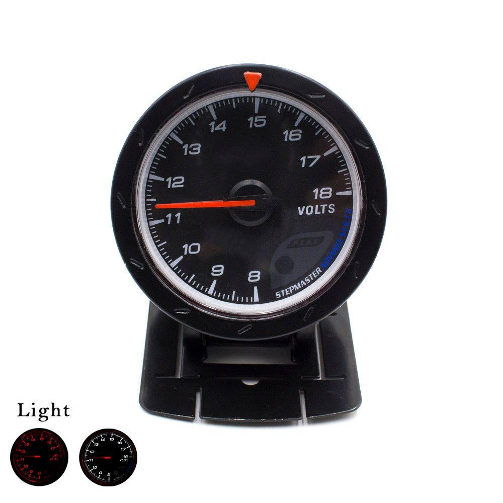 CNSPEED 60mm  Car Voltmeter 8-18 Volt Voltage Gauge Black Face White/Red LED Car Volt Meter/ Auto Gauge TT100121