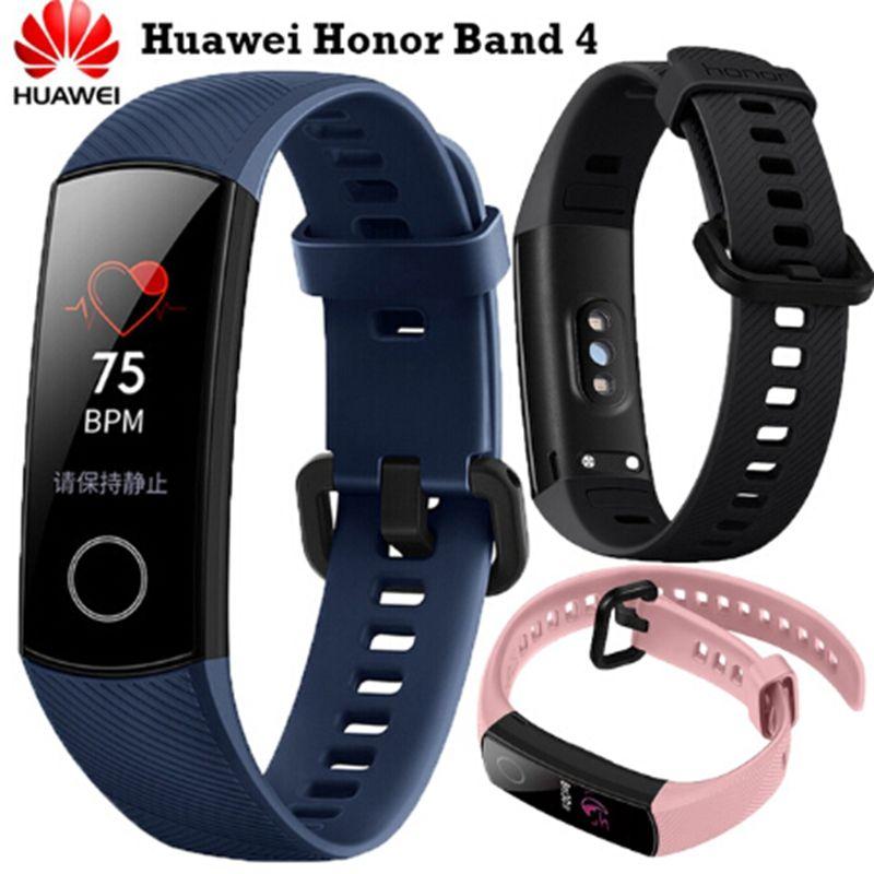 Newest Fitness Bracelet Original Huawei Honor Band 4 Smart Bracelet Amoled Color 0.95