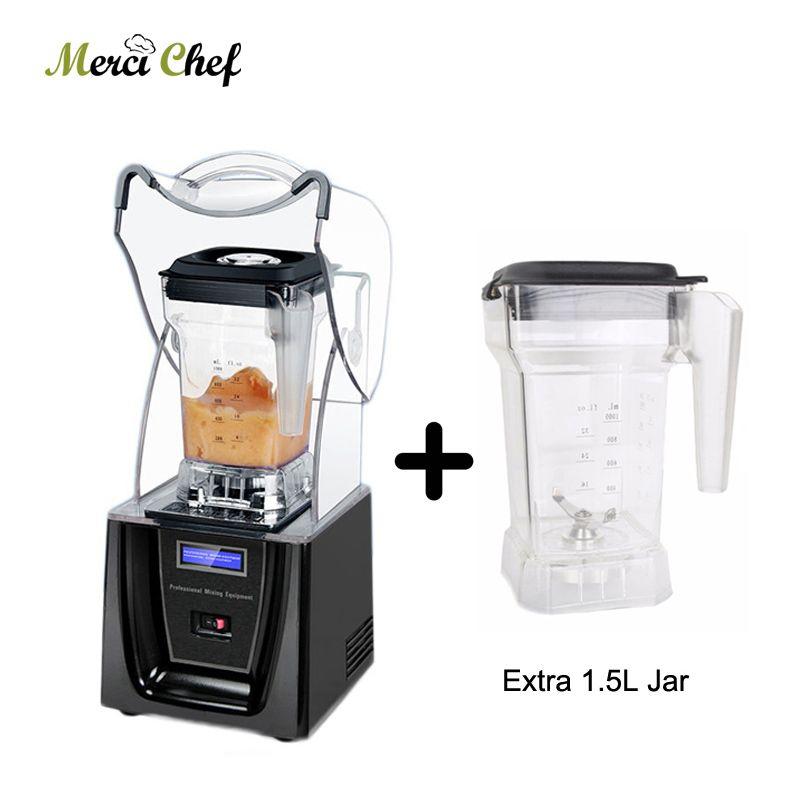 ITOP Kommerziellen 1.5L Bpa Freies Eis Mixer Professional Power Blender Mixer Entsafter Küchenmaschine Mit Einem Mehr Mixer Glas Tasse